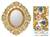 Reverse painted glass mirror, 'Dance of the Flowers' - Fair Trade Reverse Painted Glass Oval Floral Wall Mirror thumbail