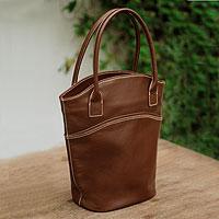 Leather handbag, 'Vogue'