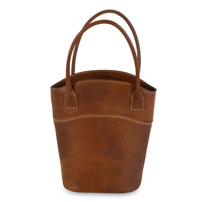 Leather handbag, 'Vogue' - Unique Leather Shoulder Bag