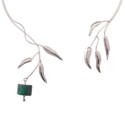 Artisan Crafted Chrysocolla Fine Silver Collar