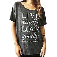LOVE GOODLY Live Kindly Tee in Grey - LOVE GOODLY Live Kindly Tee in Grey