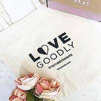 LOVE GOODLY Logo Tote - LOVE GOODLY White Organic Cotton Logo Tote