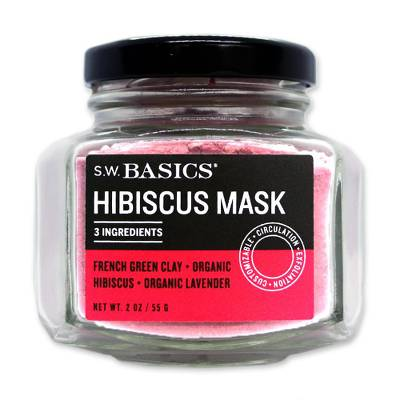 S.W. Basics Hibiscus Mask - Organic and Non-GMO Hibiscus Mask with French Clay