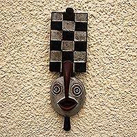 Ivoirian wood mask, 'Spirit that Flies' - Fair Trade Wood Mask from Africa