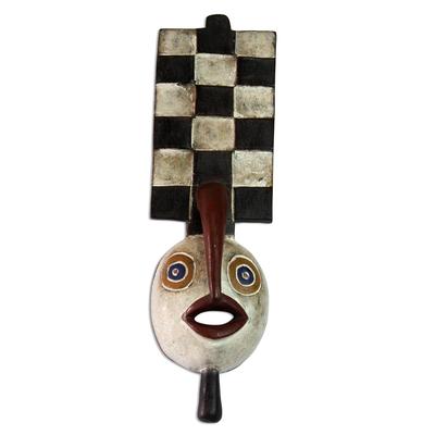 Ivoirian wood mask, 'Spirit that Flies' - Fair Trade Wood Mask from Africa