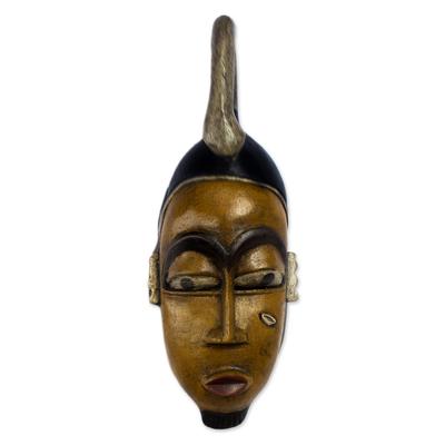 Ivoirian wood mask, 'Guro Wise Man' - Ivoirian wood mask