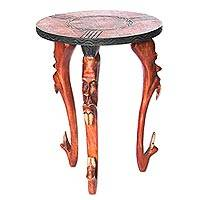 Wood accent table, 'Bravery' - Wood accent table