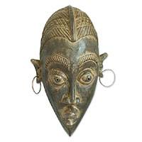 Cameroon wood mask, 'Her Beauty' - Cameroon wood mask