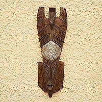 Akan wood mask, 'Generous with Peace' - Akan wood mask