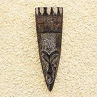 Akan wood mask, 'Seeking Unity' - Akan wood mask