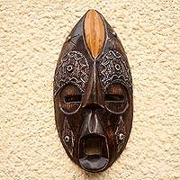 Ghanaian wood mask, 'Beauty Queen' - African wood mask