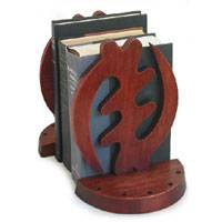 Cedar bookends, 'Fear God' (pair) - African Cedar Bookends (Pair)