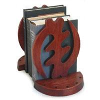 Cedar bookends, 'Fear God' (pair) - African Cedar Bookends (Pair)