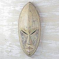 Ewe wood mask, 'Hope' - Ewe wood mask