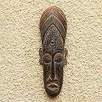 Akan wood mask, 'Moral Support'