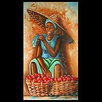 'Tomato Seller' - Realist Painting