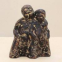 Ceramic figurine, 'Warmth of Love' - Ceramic figurine