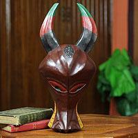 Ashanti wood mask,
