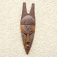 Ewe wood mask, 'Dead and Awake' - Ewe wood mask