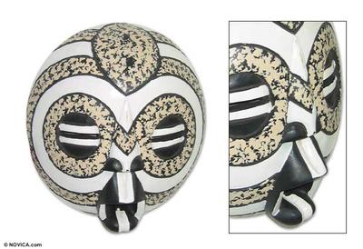 Akan wood mask, 'Mother Earth' - African Wood Mask