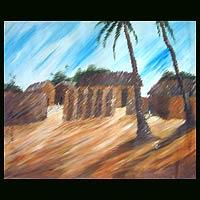'Foh Village' - Landscape Impressionist Painting
