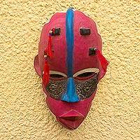 Ewe wood mask, 'Protective Motherhood' - Ewe wood mask