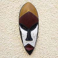Ga wood mask, 'Wisdom Is the Key' - Ga Wood Mask