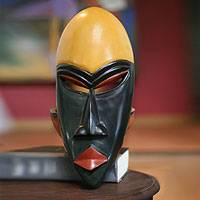Ga wood mask, 'God's Gift' - Ga wood mask