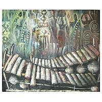'Xylophone' - Expressionist Music Painting