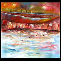 'At the Riverside' - African Original Painting