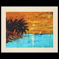 Batik art, 'Reflections' - Batik art