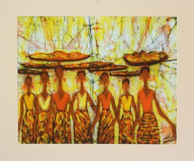 Unique Batik Cotton Wall Art from Africa
