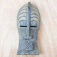 Congolese wood Africa mask, 'Social Wisdom' - Congolese wood Africa mask