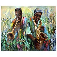 'African Rhythm II' - Original Painting from Africa