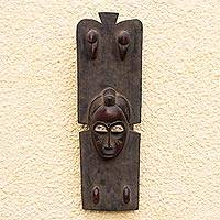 Ivorian wood mask, 'Baule King' - Ivorian wood mask