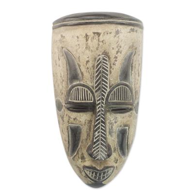Nigerian wood mask, 'Festival' - Unique Nigerian Wood Mask
