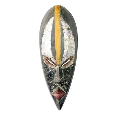 Akan wood mask, 'Honorable Elder' - Akan wood mask