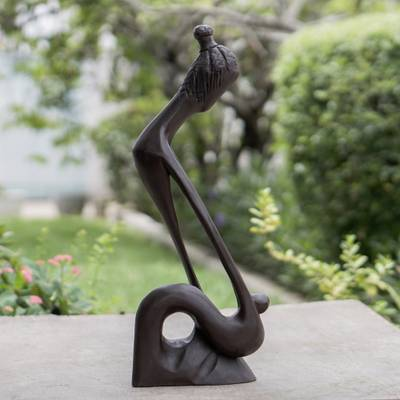 Wood sculpture, 'A Time for Everything' - Handcrafted Abstract Wood Sculpture