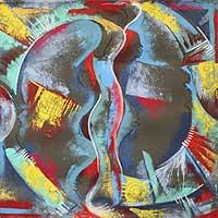 'Except God III' - Religious Acrylic Painting
