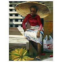 'Big Hat' (2007) - Portrait Oil Painting