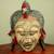 Congolese wood African mask, 'Ancient River Goddess' - Hand Beaded Wood Mask (image 2) thumbail