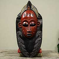 Akan wood mask, 'Supremacy'