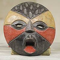African mask, 'Betrothed' - Hand Carved Tribal Mask