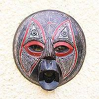Akan wood mask, 'Monkey God' - Akan wood mask