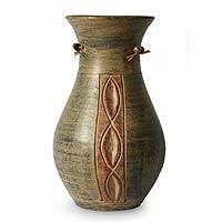 Ceramic vase, 'Hallmark' - Ceramic vase