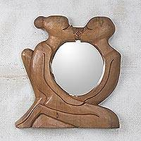 Cedar mirror, 'Unique Love' - Cedar mirror