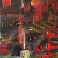 'There is a Time for Everything II' - Abstract Painting from Africa, Work II in Series
