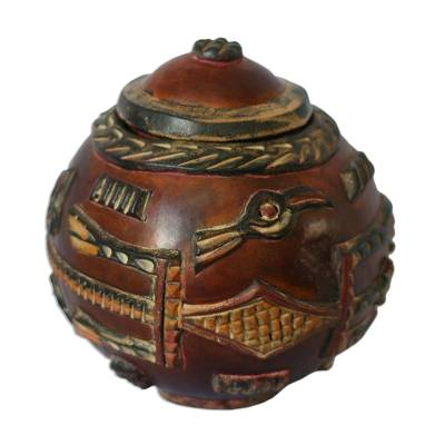 Calabash box, 'Kingdom of Animals' - Calabash box