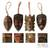 Wood ornaments, 'Festive Masks' (set of 4) - Artisan Crafted Wood Christmas Ornaments (Set of 4) (image 2) thumbail
