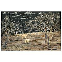 'Shepherd Boy' - African Landscape Painting